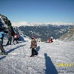 Aview of the Saddle on top of Whistler mountain