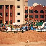 Aqua park under construction,note the concrete beam.