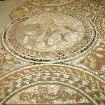 The hunting dogs mosaic.