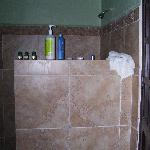 awesome shower for tall folks