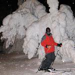 Night-skiiing is great fun.
