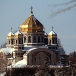 Church Domes in the Winter Sunlight