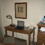 desk in deluxe room