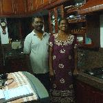 Sudi and Beena in their kitchen