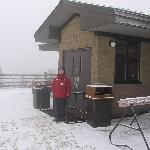 Summit cafe at top of mountain