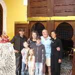 Our Hosts (Alexandre - far left, Yasmine - far right)
