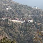 View of Trongsa Dzong from room