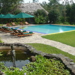 The pool and Mayan restaurant at Blancaneaux