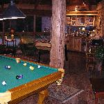 Pool room with bar