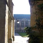 Peeking from the back quad to the front quad