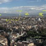 The Rome overview from the top of ST Peters showing the locality of the B&B&