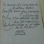 Neruda's hand written poems