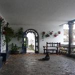 The hacienda entrance