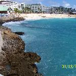 From the Sonesta Maho Resort looking back to Maho Beach
