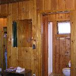Bathroom and closet in Cabin #29