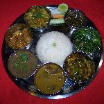 das köstliche traditionelle Essen