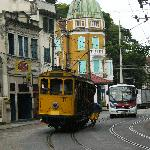 bonde, the streetcar just near the hotel