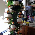 The plush puffins make real puffin noises