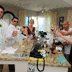 toast in groom's condo