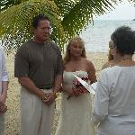 Our wedding on the beach.