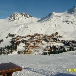 A cluster of buildings of Belle PLagne with Caralina in there somewhere!