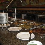 Hotel's breakfast buffet