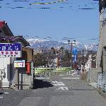 view from the side street