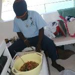 Shawn the Captian making Conch salad