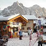 Castelrotto Ski School and View