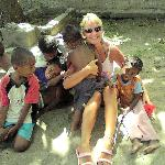 With the lovely kids from the village