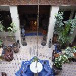 Courtyard where we ate breakfast and dinner