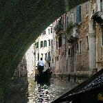 Gondole under bridge - Venezia