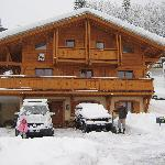 A very snowy chalet