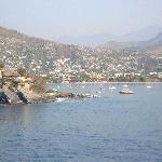 coming into Zihuatanejo on the ship