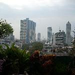 vu de la terrase sur les immeubles