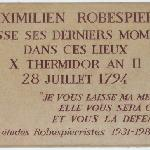 Plaque for Robespierre