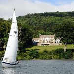 Sailing on Otsego Lake with Fenimore Art Museum on the shore
