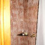 pretty tile, but narrow shower