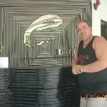 Allen in front disk of Erus Suite Hotel