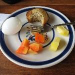 Breakfast...Caroline makes the best muffins!!