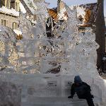 ice sculpture in the centre