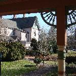 THe Main House from the Garden House porch