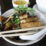 Five-Spice Tofu and Veggie Stir Fry at Cafe Koi