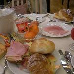 朝食の一部