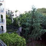 Balcony View of the gardens at Marriott Ixtapan