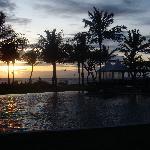 The main pool at sunset