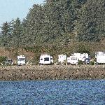 Winchester Bay RV Resort, waterfront sites