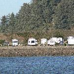 Winchester Bay RV Resort, waterfront sites