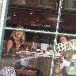 Best seat in the house- a Benjamin's window table!