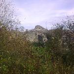 The castle walls go round the garden